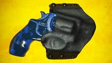 LEFT HAND HOLSTER BLACK CARBON KYDEX SMITH & WESSON S&W AIRWEIGHT 38 Special