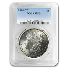 1884-CC Morgan Silver Dollar - MS-64 PCGS