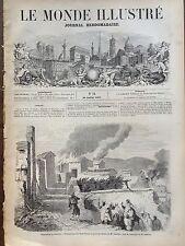 LE MONDE ILLUSTRE 1857 N 14 EXPEDITION EN KABYLIE SOUMISSION DES BENNi -YENNI