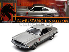 Greenlight 1976 Ford Mustang II Stallion 1:18 Diecast Silver 12890