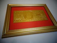 24 KT 999.9% GOLD USA *2009 *$100 DOLLAR BILL -*FRAMED- LIMITED PRODUCTION, RARE