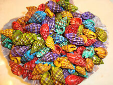 100 Dyed Phyrus Seashell Party Sea Shell Wedding Vase Filler Crafts Beachy