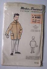 § patron ancien MODES ET TRAVAUX veste (auto-coat) garçon tailles 7 8 9 10 ans
