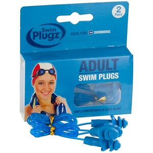 Swim Plugz Adult Swim Earplugs - 2 Pair Pack (FREE UK P&P)