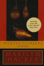 Winter Numbers : Poems by Marilyn Hacker (1996, Paperback)