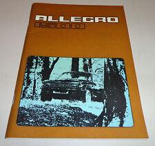 Instrucciones Servicio Manual Owner's Manual Austin Allegro 1500 , Stand 01/1976