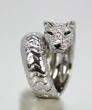 PANTHERE DE CARTIER DIAMOND HEAD PANTHER RING 2.07 CTS SIZE 55 BOX ,CERTIFICATE