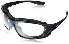 Uvex S0620X Seismic Sealed Eyewear, Clear Lens, Metallic Blue Frame