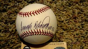FRANK ROBINSON (HOF 82) Signed Major League Baseball -Steiner Authenticated