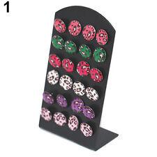 lot de 12 paires de boucles d'oreilles léopard + présentoir lot revendeur