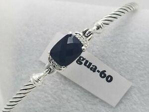 David Yurman Petite Wheaton Black Onyx & Diamonds Bracelet size small