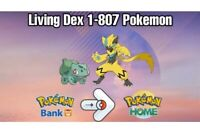 Living Shiny Dex All 807 Pokemon Transfered To Home Gen 1-7 Pokemon Sword Shiekd
