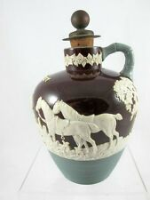 DUDSON ENGLISH WHISKY JUG WITH FOX HUNTING SCENE C 1890'S, WEDGWOOD???