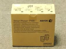 Xerox 106R02605 Black Dual Pack Toner Cartridge Phaser 7100 Genuine New Seal Box