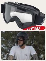 Occhiali Biltwell per Casco Moto 2.0 Neri - Harley, Custom, Bobber, Chopper,
