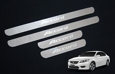 4 Door Stainless Scuff Plate Door Sill Trim For Honda Accord Sedan 2013 - 2017