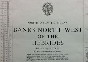 ADMIRALTY SEA CHART. BANKS N. W. of the HEBRIDES. No.1129. N. Atlantic. 1979.