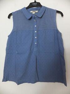 New Women's White Stuff Light Blue Sugar Spoon Jersey Shirt UK 8-18 RRP £39.95