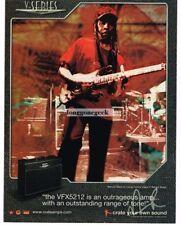 2005 CRATE VFX5212 Amplifier VERNON REID Living Color Vtg Print Ad