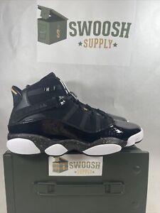 Nike Air Jordan 6 Rings Black Metallic Gold 322992 007 Men's Shoes Size 9.5