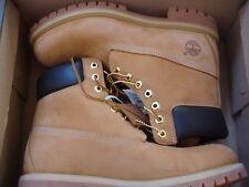TIMBERLAND Mens Premium 6 Inch Waterproof Boots Wheat Nubuck NEW Size 9 TB010061