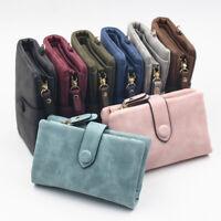 Women's Lady Tri-Fold Fashion Wallet Purse Short Design PU Leather For Card