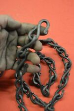 Wrought Iron,S-Hook Rain Chain,Hand Forged by Blacksmiths in the USA, 1/4 in dia