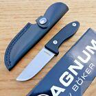 "Boker Magnum Kid's II Fixed Knife 3.13"" 440C Steel Full Tang Blade G10 Handle"