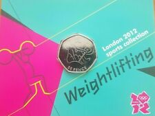 Weightlifting Olympic 50p Uncirculated bu carded