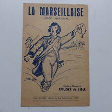 Partition la Marseillaise ROUGET DE L ISLE