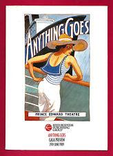 """Elaine Paige """"ANYTHING GOES"""" Howard McGillin / Cole Porter 1989 London Folder"""