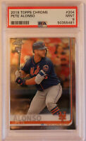 2019 Topps Chrome Pete Alonso #204 Graded PSA 9 MINT Rookie New York Mets RC