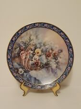 "Vintage W.S. George ""Pansies"" by Lena Liu Floral Fine China Collector Plate"