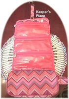 Chevron Hanging Travel Organizer Bag 4 Sections Makeup Toiletry Cosmetic Jewelry