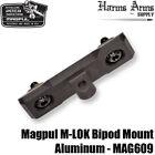 Magpul M-LOK Bipod Mount - Black Anodized Aluminum - Harris Style - MLOK MAG609