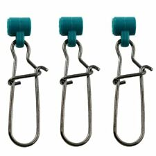 15pcs Green Sinker Slide with Duolock Nice Snap Connector for Braid Line Swivels