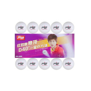 10x DHS 1-Star D40+ Table Tennis ABS Plastic Balls PingPong Balls ITTF Approved