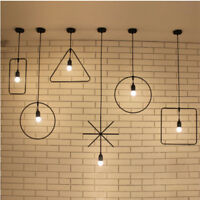 Modern Geometric Shape Industrial Metal Pendant Light Ceiling Lamp Lampshade