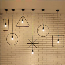 Modern Geometric Shape Industrial Metal Pendant Light Ceiling Lamp Lampshade
