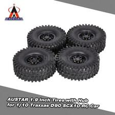 4Pcs AUSTAR AX-5020C 1.9 Inch 120mm Tires + Hub f 1/10 Rock Crawler RC Car C6S9