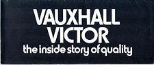 Vauxhall Victor FD 1970-71 UK Market Foldout Sales Brochure Saloon Estate