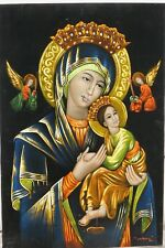 BLACK VELVET ART MADONNA WITH CHILD A.G. TAYAG