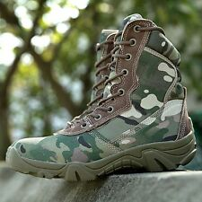 Mens Outdoor Tactical Boots Military Combat Hiking Desert Training Sports Shoes