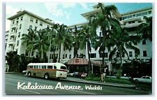 Picture Postcard Kalakaua Avenue Waikiki Hawaii