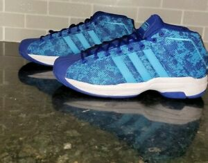 Adidas Pro Model 2G Snakeskin Camo Blue 2020 Men Size 12.5 Basketball Shoes NEW