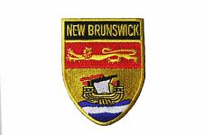 NEW BRUNSWICK SHIELD CANADA PROV. With Gold Trim FLAG IRON-ON PATCH  CREST BADGE