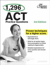1,296 ACT Practice Questions, 3rd Edition (College Test Preparation) by Princeto