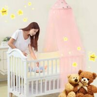 Cute Baby Princess Canopy Crib Netting Dome Bed Mosquito Net for Nursery WW