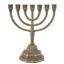 Amenorà MENORAH candeliere ebraico 7 braccia ottone massiccio misura media