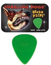 Snarling Dogs Brain Guitar Picks Green .53mm 12 picks in Tin Box
